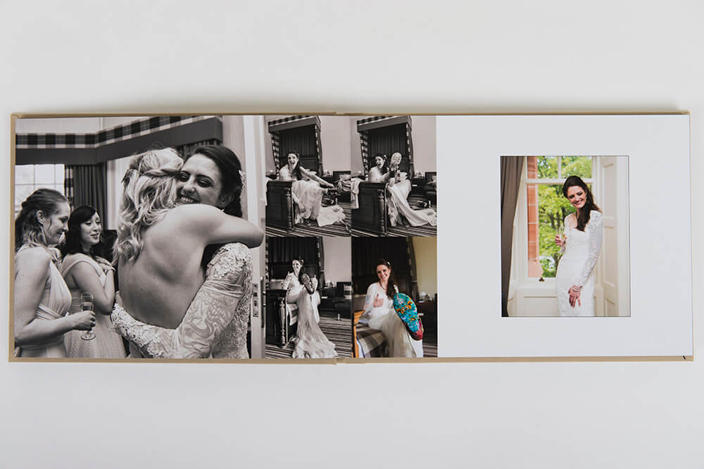 Detail from wedding album shot at Ayrshire wedding venue the Savoy Park hotel, Ayr by Richard Campbell
