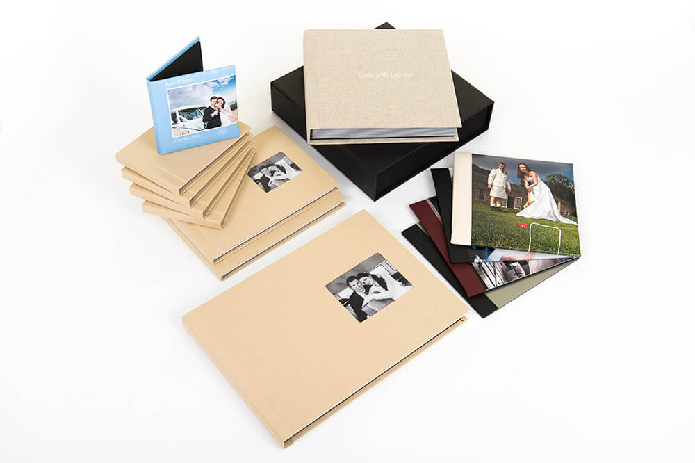 Selection of wedding albums by Ayrshire and Glasgow photographer Richard Campbell
