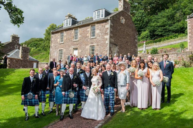 Photography of Wedding Party at New Lanark