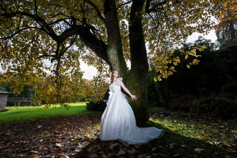 Wedding Photography of Bride at Sorn Castle Ayrshire