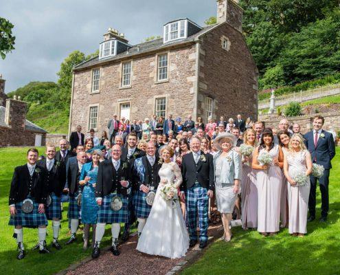 wedding guests new lanark wedding photographer richard campbell photography