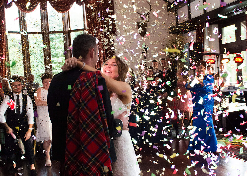 This is one of my favourite shots from the wedding which was taken during the first dance at the reception in the Brigadoon's lovely function room.