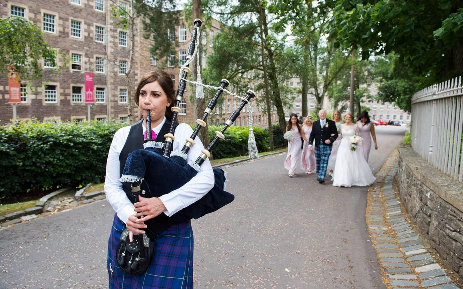Piper for ayrshire wedding