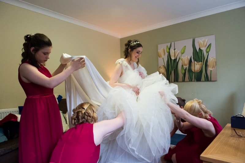 Bride Getting Ready at New Lanark Mill Hotel