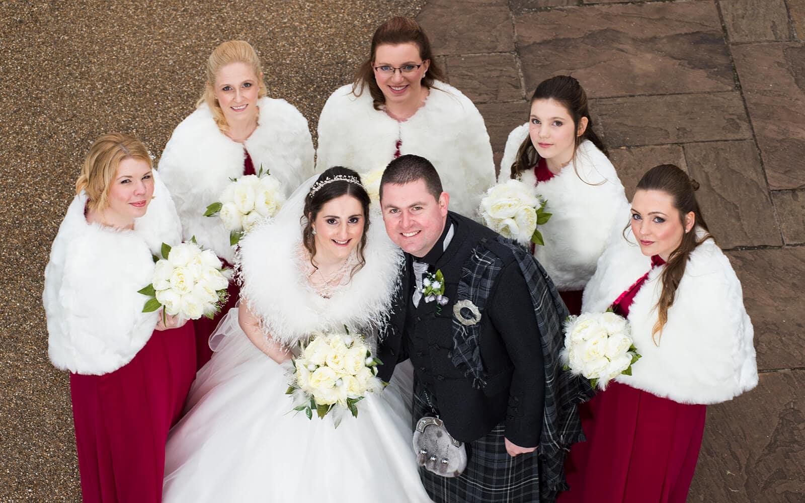 Group Wedding Photo, Ayrshire