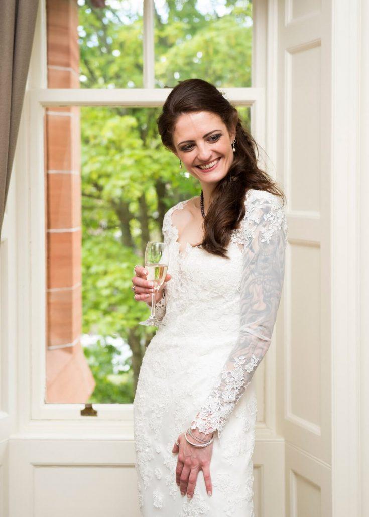 Informal Portrait of Bride at Savoy Park Hotel Ayr