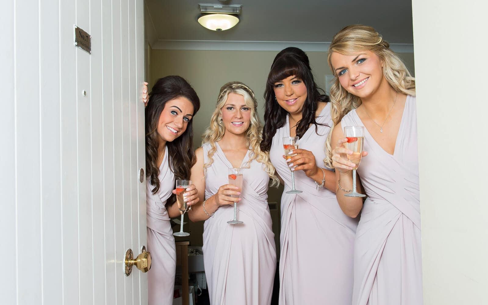 Ayrshire Wedding photos of bridesmaids