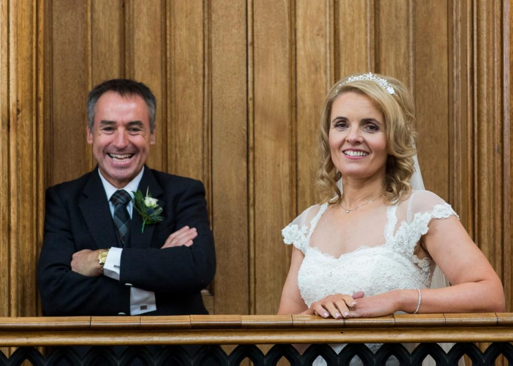 Portrait of Bride and Groom at Blairquhan Castle Ayrshire