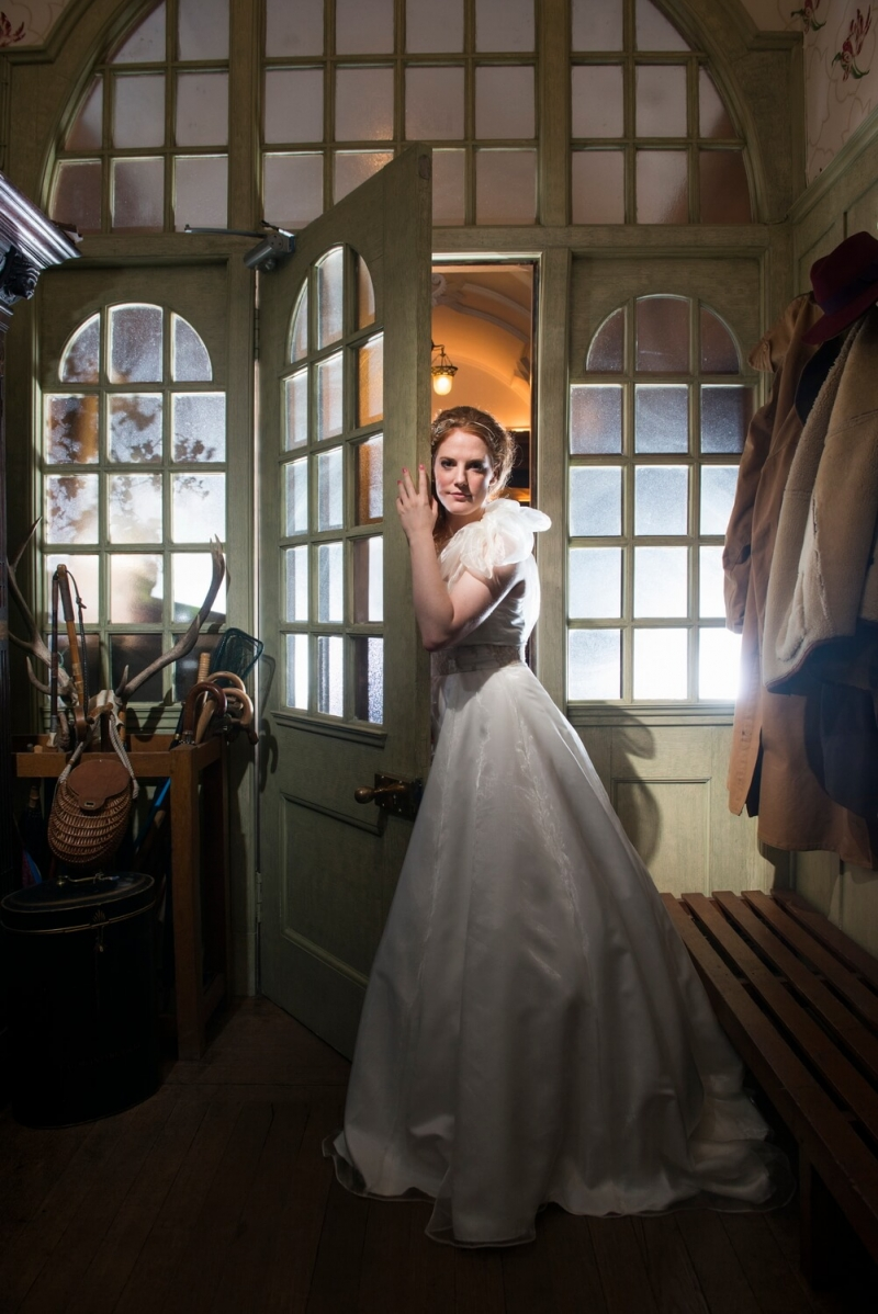 Portrait of Bride at Sorn Castle Ayrshire